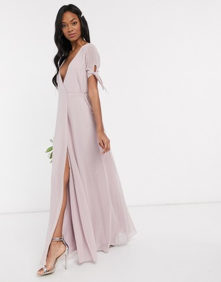 Maids To Measure bridesmaid wrap maxi dress