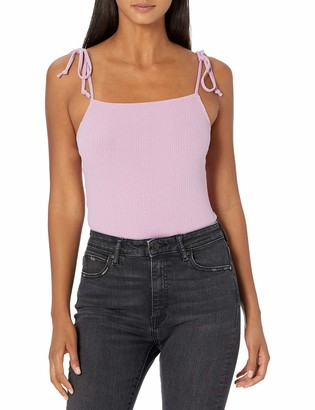 BCBGeneration Women's Square Neck Tie Strap Cami Bodysuit