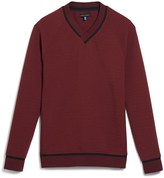 Vince Camuto Textured Varsity Pullover