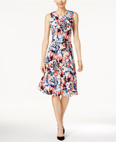 Charter Club Floral-Print Fit & Flare Dress, Only at Macy;s