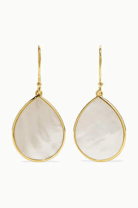 Ippolita Polished Rock Candy 18-karat Gold Mother-of-pearl Earrings - one size