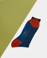 Colour Block Textured Socks