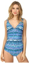 Badgley Mischka Adia Shirred Tank Mio w/ Beads