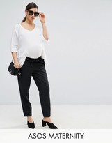 Asos Pant in Pin Stripe with Paperbag Waist