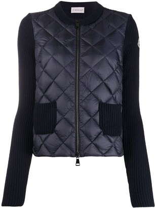 Moncler Quilted Contrast-Sleeve Jacket