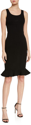 Michael Kors Double-Ruffle Sheath Dress
