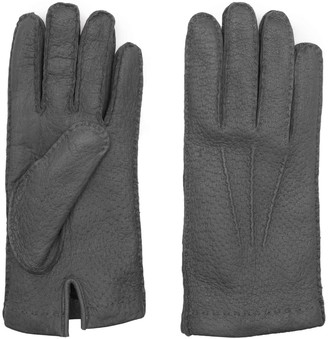 Dalgado Handmade Peccary Leather Gloves Grey Salvatore