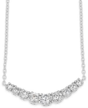 Macy's Diamond Classic Collar Necklace (1/2 ct. t.w.) in 14k White Gold
