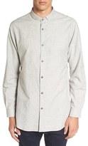 Zanerobe Men's 7 Ft Tuck Collar Longline Woven Shirt