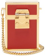 Mark Cross Nicole Leather And Gold-plated Cross-body Bag - Womens - Red