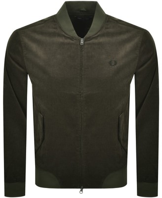 Fred Perry Cord Bomber Jacket Green