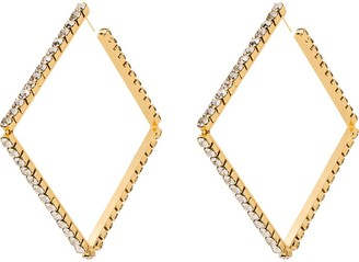 Area Embellished Square Hoop Earrings