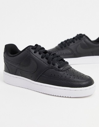Nike Court Vision Low trainers in white & black