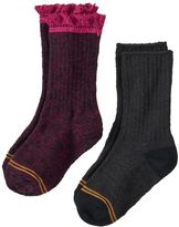 Gold Toe GOLDTOE 2-pk. Lace-Trim Boot Socks - Girls