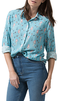 Sugarhill Boutique Blair Mermaid Shirt, Dusky Blue