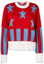 MSGM star ribbed knit pullover