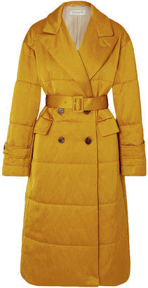 Dries Van Noten Renata Belted Quilted Satin Coat