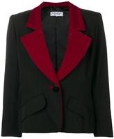 Saint Laurent Pre Owned 1980's wide lapels blazer