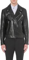 Paul Smith Zip detail leather biker jacket
