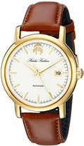 Brooks Brothers Men's SILGA006 Core Collection - Round Analog Display Automatic Self Wind Brown Watch