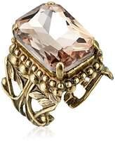 Sorrelli Emerald Cut Band Ring, Peony