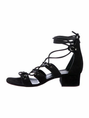 Saint Laurent Suede Gladiator Sandals Black