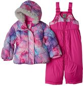 ZeroXposur Baby Girl Heavyweight Dot Jacket & Bib Snow Pants Set