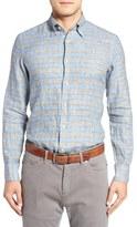 Canali Men's Plaid Linen Flannel Sport Shirt