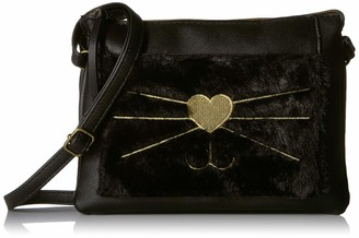 T-Shirt & Jeans Womens Cat Cross Body with Faux Fur