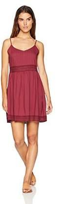 Oasis Wild Beachwear Women's Crochet Trim Tank SolidShort Dress