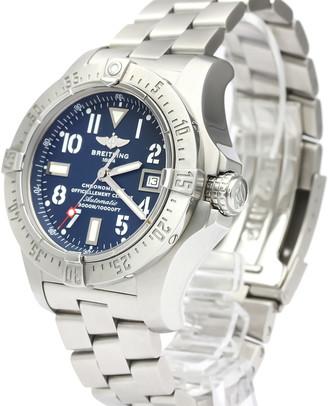 Breitling Blue Stainless Steel Avenger II Seawolf Automatic A17330 Men's Wristwatch 45 MM