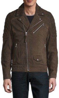 French Connection Suede Motorcycle Jacket