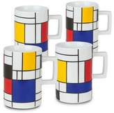 Konitz Homage to Mondrian Mugs (Set of 4)