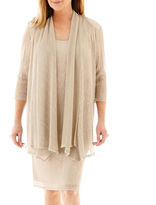 R & M Richards R&M Richards 3/4-Sleeve Crinkle Jacket Dress