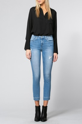 Flying Monkey Laguna Mid Rise Trouser Slim Crop Skinny Jeans