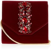 Lipsy Jewelled Velvet Crossbody Bag