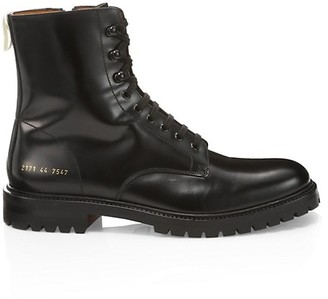 Common Projects Lug Sole Leather Combat Boots