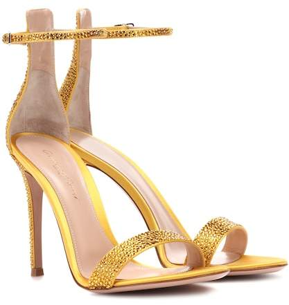 Gianvito Rossi Exclusive to mytheresa.com – Glam embellished satin sandals