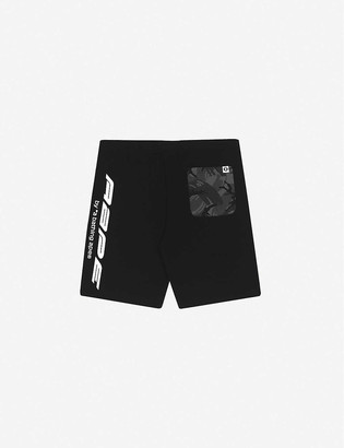Aape Camouflage-panel cotton-jersey shorts
