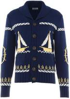 Band Of Outsiders Cable Boat Jacket Cardigan Navy