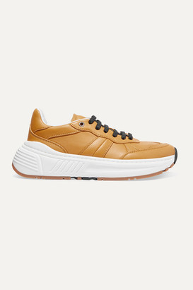 Bottega Veneta Speedster Leather Sneakers - Mustard