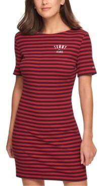 Tommy Jeans Striped Shift Dress