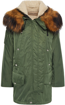 Burberry Faux Fur-trimmed Shell Hooded Parka