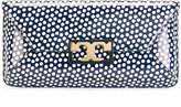 Tory Burch logo polka dot clutch - women - Leather - One Size