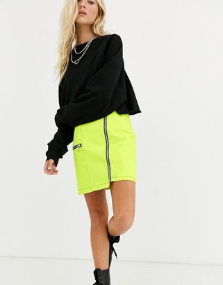The Ragged Priest zip front mini skirt