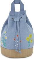 Stella McCartney Floral denim backpack