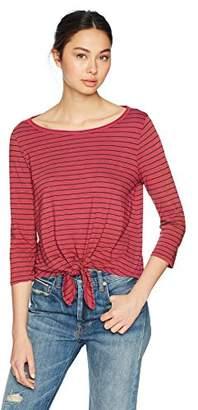 Three Dots Women's Big sur Stripe Loose Short Shirt