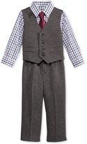 Nautica Baby Boys' 4-Pc. Plaid Shirt, Herringbone Vest, Pants & Tie Set