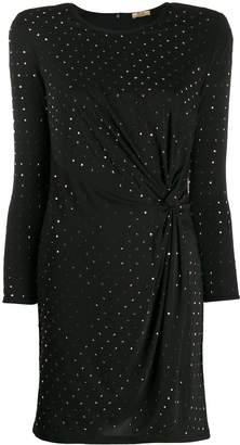 Liu Jo stud-embellished twisted detail dress