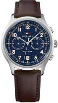 Tommy Hilfiger Casual Sport Watch With Leather Strap